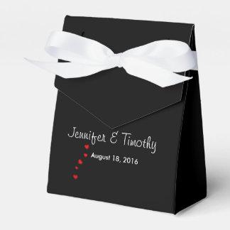 Personalisierter schwarzer Gastgeschenk Geschenkkarton