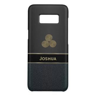 Personalisierter schwarzer Kasten Celtic Triskele Case-Mate Samsung Galaxy S8 Hülle