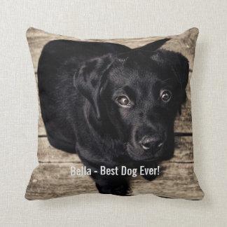 Personalisierter schwarzer Labrador-HundeFoto-und Kissen