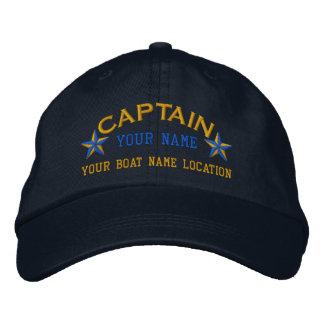 Personalisierter Seekapitän hat Bestickte Kappe