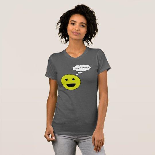 Personalisierter smiley mit Gedanken-Blase T-Shirt