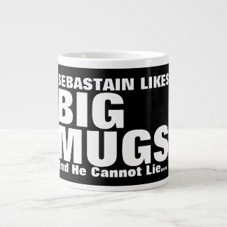 Personalisierter Spaß mag große Tassen und ich Jumbo-Tasse