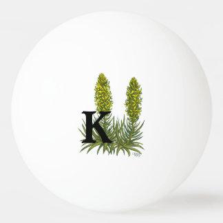 Personalisierter Spear Flower Monogram Königs Tischtennis Ball