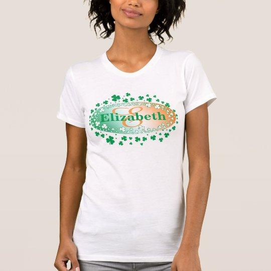 Personalisierter St Patrick Tag, glückliches T-Shirt