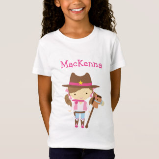 Personalisierter T - Shirt des Cowgirls