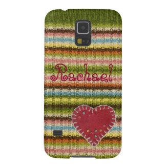 Personalisierter Telefon-Kasten mit gestricktem Galaxy S5 Cover