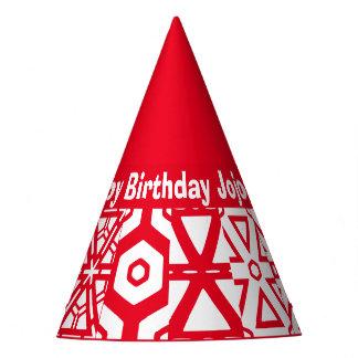 Personalisierter Text-Geburtstags-Name (Jojo) Partyhütchen