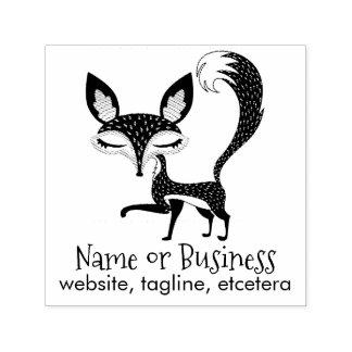 Personalisierter Text-Selbst Lil Fox, der Permastempel