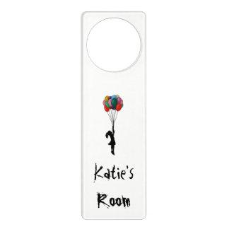 Personalisierter Tür-Aufhänger, Mädchen mit Türanhänger