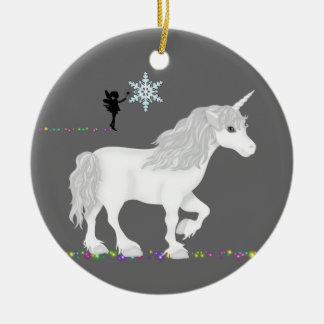 Personalisierter Unicorn, Fee und Weihnachtsbaum Keramik Ornament