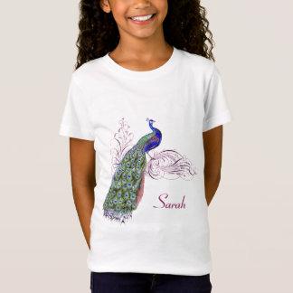 Personalisierter Vintager Pfau T-Shirt