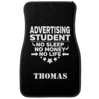 Personalisierter Werbungs-Student kein Schlaf-Geld Auto Fussmatte
