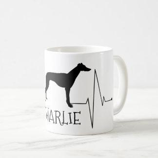 Personalisierter Windhund Whippet Kaffeetasse