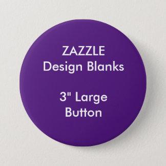"""Personalisiertes 3"""" große runde Knopf-Schablone Runder Button 7,6 Cm"""