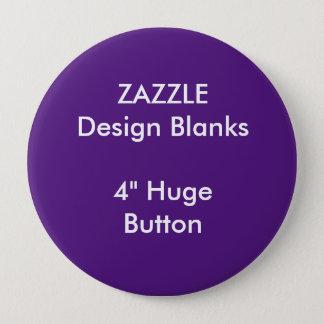 """Personalisiertes 4"""" enorme runde Knopf-Schablone Runder Button 10,2 Cm"""
