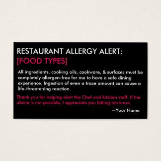 Personalisiertes Allergie-Restaurant u. EIS Karte