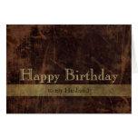 Personalisiertes alles Gute zum Geburtstag Browns/ Grußkarten