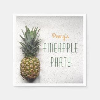 Personalisiertes Ananas-Party-Papierservietten Serviette