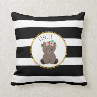Personalisiertes Baby-Bärn-Streifen-Kissen Zierkissen