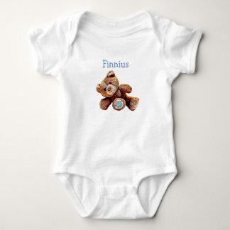 Personalisiertes Baby-Jungeteddy-Bärn-Shirt Baby Strampler