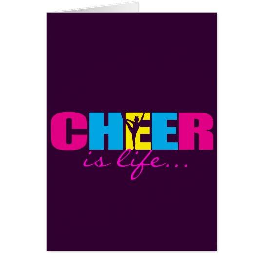 Personalisiertes Beifall Cheerleading lila Grußkarte