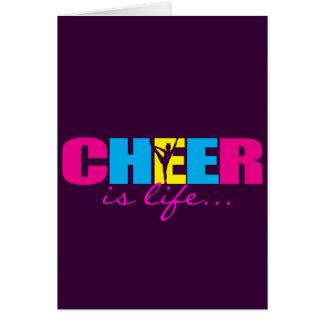 Personalisiertes Beifall Cheerleading lila Karte