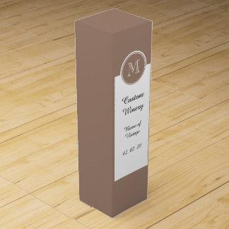 Personalisiertes Biber-Brown-Spitzen gefärbt Weinbox