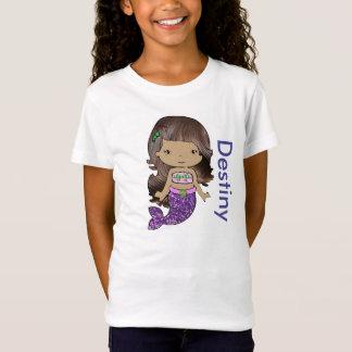 Personalisiertes Bio Meerjungfrau-Mädchen-Shirt T-Shirt