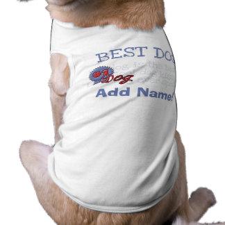 Personalisiertes blaues Band-Hundet-shirt T-Shirt