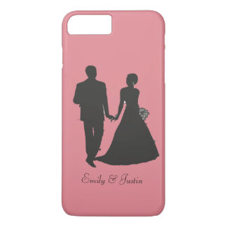 Personalisiertes Bräutigam und Braut iPhone 7 Plus iPhone 8 Plus/7 Plus Hülle