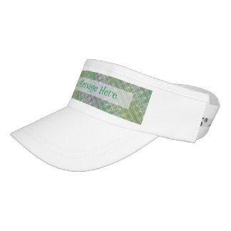 Personalisiertes buntes Pastellzickzack-Muster Visor