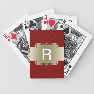 Personalisiertes Chic-Gold und roter Bicycle Spielkarten