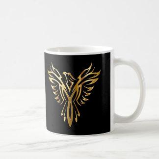 Personalisiertes cooles Gold Phoenix Kaffeetasse