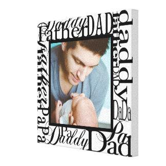 Personalisiertes der Vatertags-Wort-Collagen-Weiß Leinwand Drucke