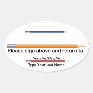 Personalisiertes Elternteil-Zeichen und Ovaler Aufkleber