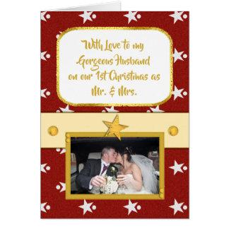 Personalisiertes erstes Weihnachtsherrlicher Karte