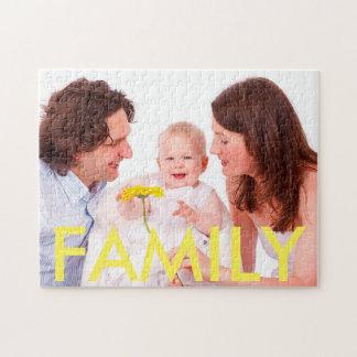 Personalisiertes Familien-Foto-Puzzlespiel
