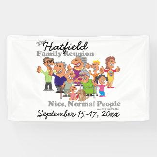 Personalisiertes Familien-Wiedersehen-lustiger Banner