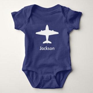 Personalisiertes Flugzeug-Shirt für Kinder Baby Strampler