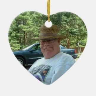 Personalisiertes Foto-Erinnerungsgeschenk-Herz Keramik Ornament