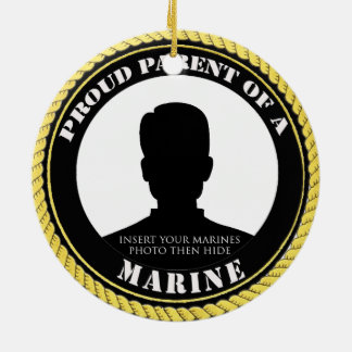 Personalisiertes Foto-Marineelternteil-Verzierung Keramik Ornament