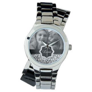 Personalisiertes Foto mit Uhr
