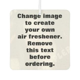 Personalisiertes Fotolufterfrischungsmittel. Lufterfrischer