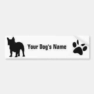 Personalisiertes französische Bulldogge フレンチ ・ ブルド Autoaufkleber