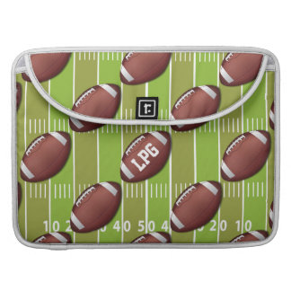 Personalisiertes Fußball-Muster auf Sport-Feld MacBook Pro Sleeve
