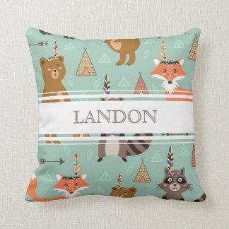 Personalisiertes gebürtiges Waldfreund-Kissen Kissen
