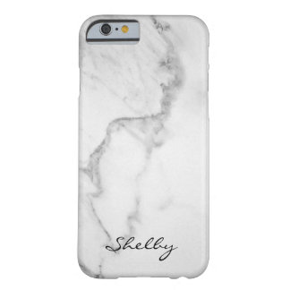 Personalisiertes genanntes Carrara MarmoriPhone Barely There iPhone 6 Hülle