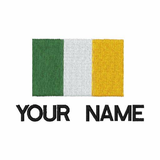 Personalisiertes gesticktes irisches Flaggen-Polo-