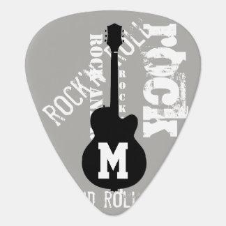 personalisiertes Gitarre-themenorientiertes Grau Plektron