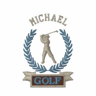 Personalisiertes Golf-Fahnen-Logo Besticktes Polo Hemd